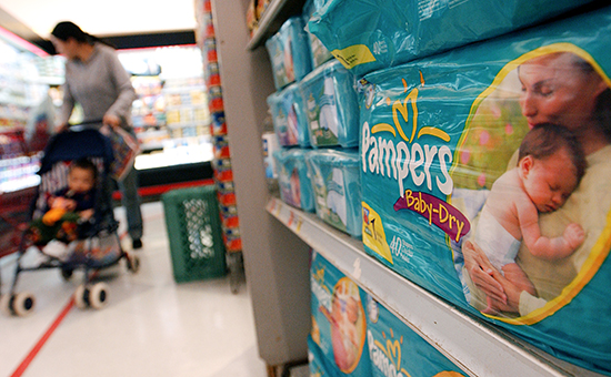 Pampers Diapers, which are manufactured by Procter & Gamble,