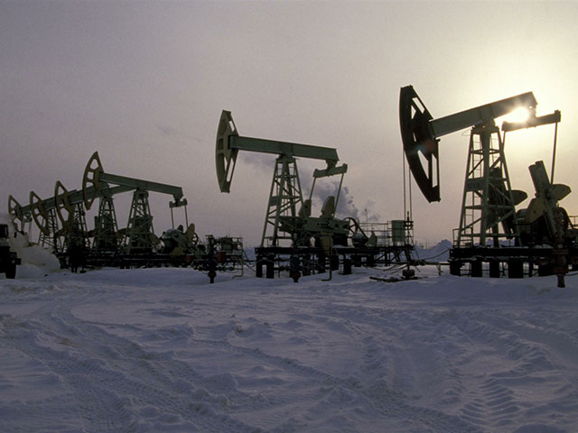 Oil production in the Tomsk region.