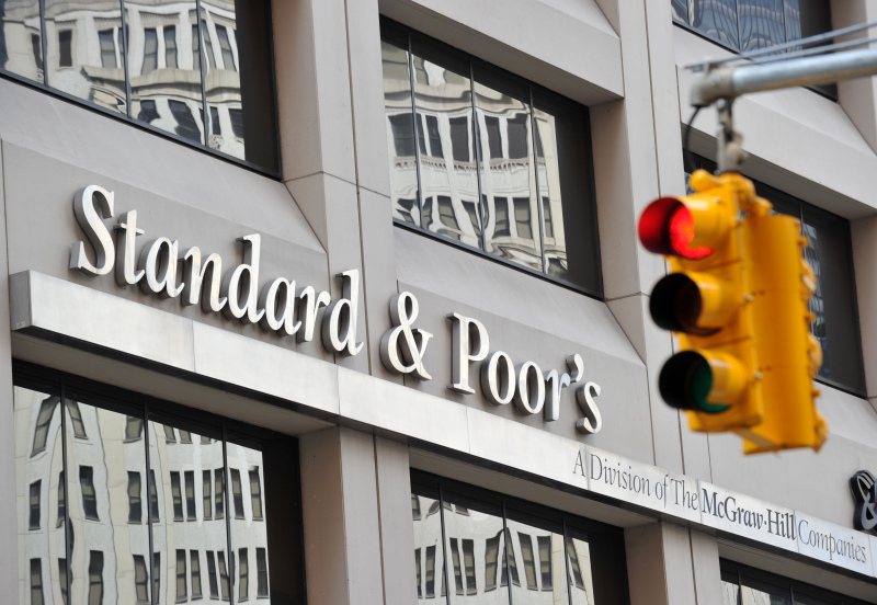 (FILES) - Photo shows Standard & Poor's headquarters in the financial district of New York on August 6, 2011. Standard & Poor's has decided to downgrade France's top-notch credit rating but will spare Germany, Belgium, Luxembourg and the Netherlands, an EU government source told AFP on January 13, 2012. AFP PHOTO/Stan HONDA        (Photo credit should read STAN HONDA/AFP/GettyImages)