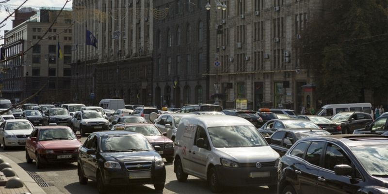 Congestions in central Kyiv